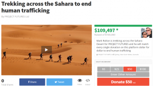 Trekking across the Sahara fundraising